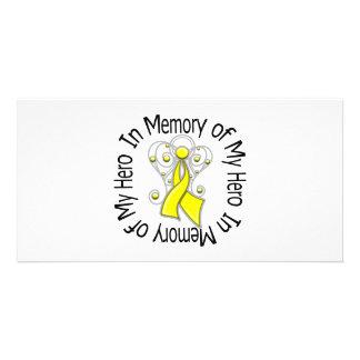 Zum Gedenken an meine Held-Hodenkrebs-Engels-Flüge Photokartenvorlagen