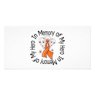Zum Gedenken an meine Held-Leukämie-Engels-Flügel Individuelle Foto Karten