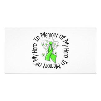 Zum Gedenken an meine Held-Lymphom-Engels-Flügel Personalisierte Foto Karte