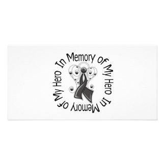 Zum Gedenken an meine Held-Melanom-Engels-Flügel Fotokarte