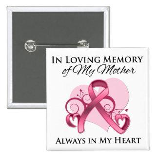 Zum Gedenken an meine Mutter - Brustkrebs Anstecknadelbutton