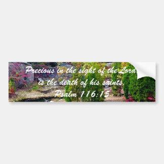 Zum Gedenken an Psalm-116:15 Autoaufkleber