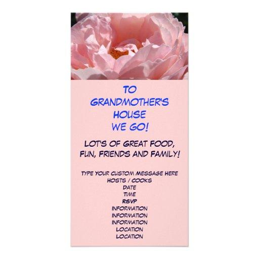 Zum Haus der Großmutter gehen wir! Feiertags-Einla Foto Karten