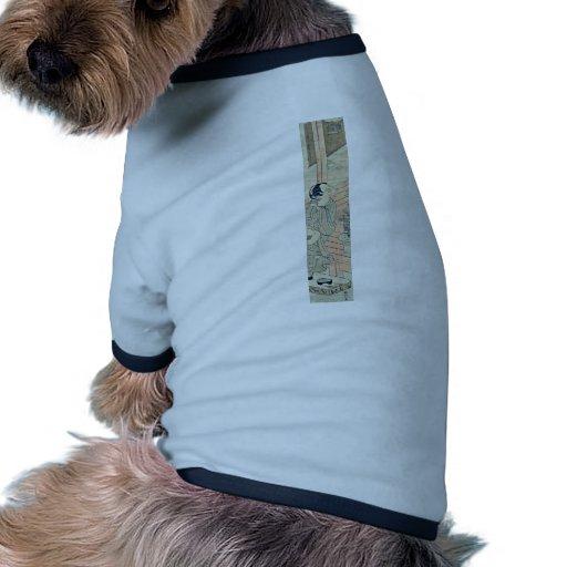 Zum Kricket durch Suzuki hören, Harunobu Hundebekleidung