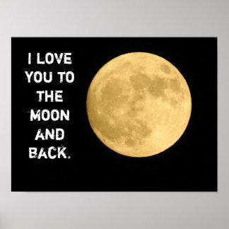 Zum Mond und zur Rückseite -- Kunstplakat Poster