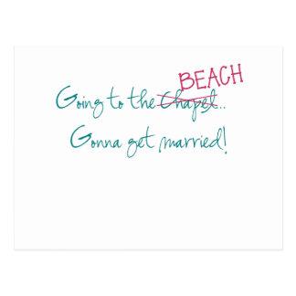 Zum Strand gehen, gehend, verheiratete Postkarte z