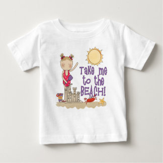 Zum Strand (Mädchen) Baby T-shirt