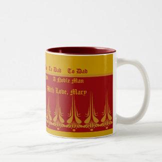 Zum Vati Tasse-Fertigen Sie besonders an Zweifarbige Tasse