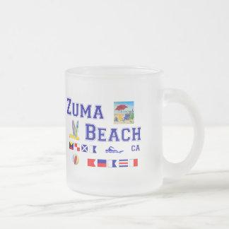 Zuma-Strand - Seeflaggen-Rechtschreibung Mattglastasse