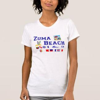Zuma-Strand - Seeflaggen-Rechtschreibung T-Shirt