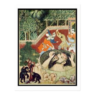 Zumrud Shah fällt in eine Grube und wird durch Postkarte