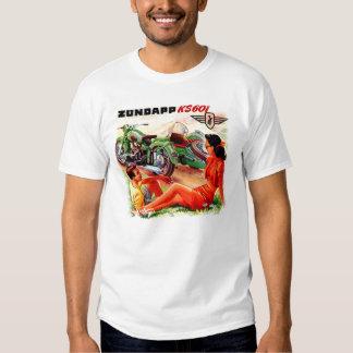 Zundapp Vintage Motorrad-Beiwagen-Anzeigen-Kunst Shirts