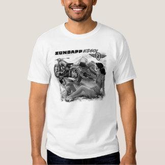 Zundapp Vintage Motorrad-Beiwagen-Anzeigen-Kunst T-shirt