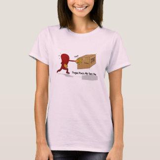 Zunge-Durchschlag mein Furz-Kasten (mit Text) T-Shirt