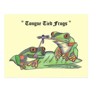 """Zunge gebundene Frosch-""Postkarte Postkarte"