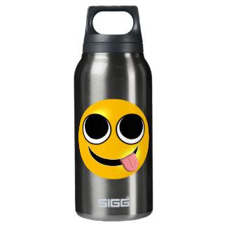 Zunge heraus Emoji Isolierte Flasche