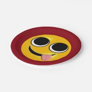 Zunge heraus Emoji Pappteller
