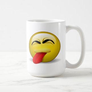 Zunge heraus kaffeetasse