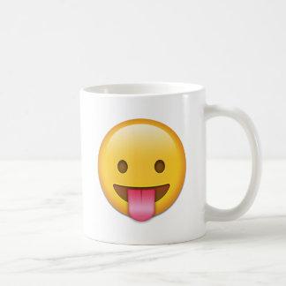 Zunge-Heraus unverschämtes Emoji Kaffeetasse