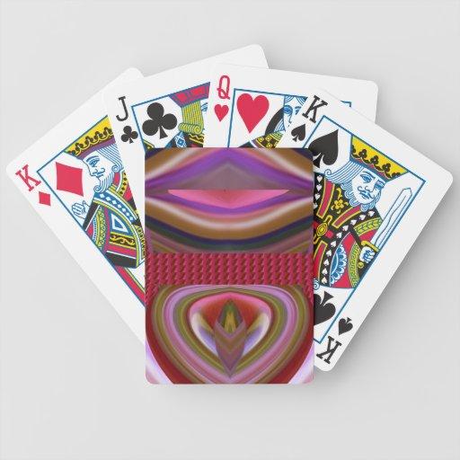 Zungetwister-Lippen lecken bunte Schatten-Kunst Poker Karten
