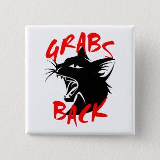 Zupacken-zurück quadratischer Knopf Quadratischer Button 5,1 Cm
