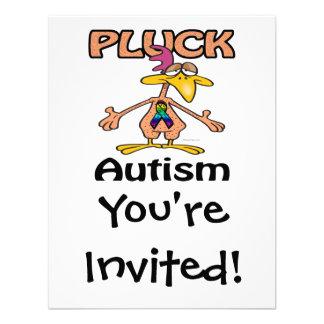 Zupfen Sie Autismus-Bewusstseins-Entwurf Individuelle Einladungen