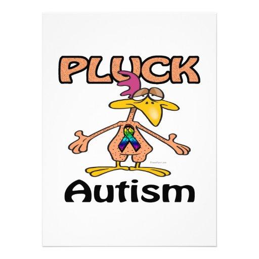 Zupfen Sie Autismus-Bewusstseins-Entwurf Individuelle Einladungskarten