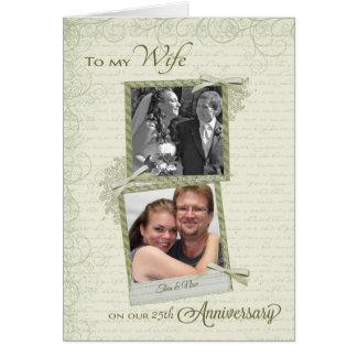 Zur Ehefrau auf __th Jahrestag - Gewohnheit dann Karte