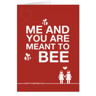 """Zur Entwurfs-""""nicht gerade bedeutet Biene"""" Karte"""