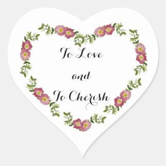 Zur Liebe und Herz-geformte Aufkleber schätzen