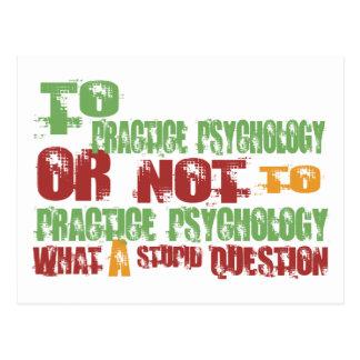 Zur Praxis-Psychologie Postkarte