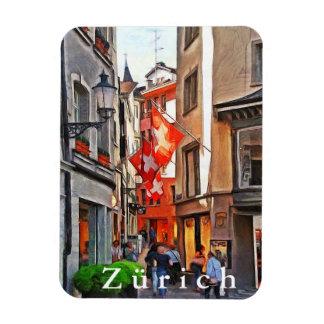 Zürich. Die Größe der Flaggen von der Schweiz Magnet