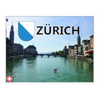 Zürich - die Schweiz Postkarte