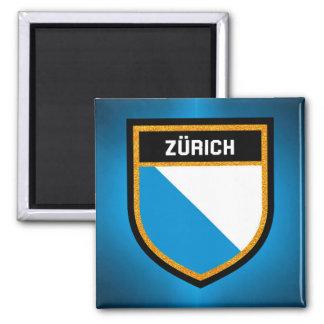 Zürich Flagge Quadratischer Magnet