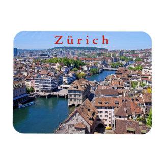 Zürich. Panorama vom Grossmunster Turm Magnet