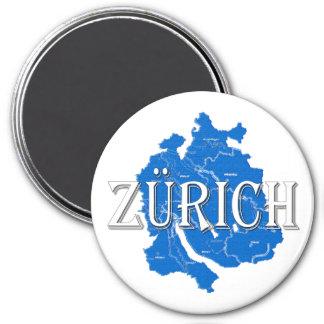 Zürich Runder Magnet 7,6 Cm
