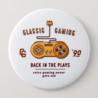 zurück in den Spielen - Supernintendo Runder Button 10,2 Cm