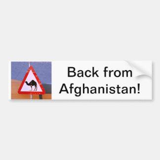 Zurück von Afghanistan Autoaufkleber