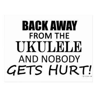 Zurück weg von dem Ukulele Postkarte