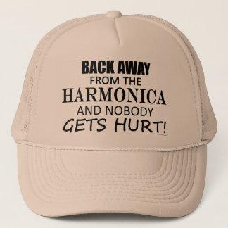 Zurück weg von der Harmonika Truckerkappe