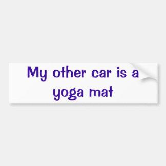Zurück zu dem Anfang-Yoga-Matten-Autoaufkleber Autoaufkleber