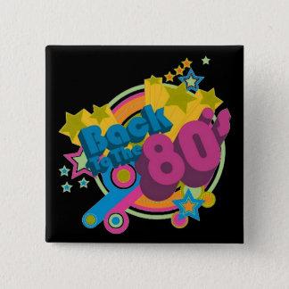 Zurück zu dem Retro Knopf Achtzigerjahre Quadratischer Button 5,1 Cm