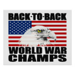 Zurück zu hinterem Weltkrieg kaut Eagle-Plakat