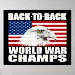 Zurück zu hinterem Weltkrieg kaut großes Eagle-Pla Poster