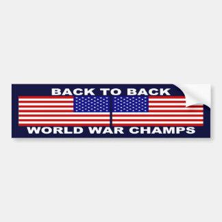 Zurück zu hinterem Weltkrieg verficht Autoaufkleber