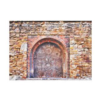 Zurück zu mittelalterlichen Zeiten Leinwanddruck