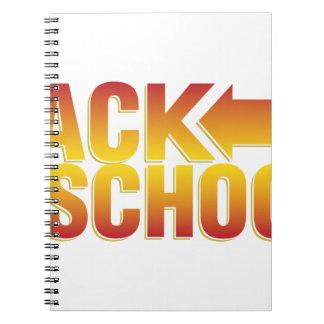 zurück zu Schule Notizblock