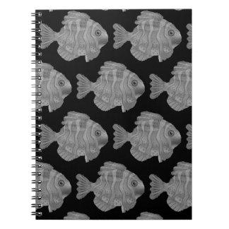 Zurück zu Schule Schule des Fisch-Notizbuches Spiral Notizblock