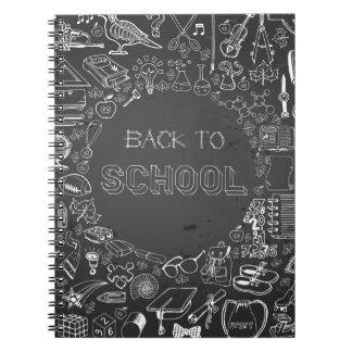 Zurück zu Schule Spiral Notizblock
