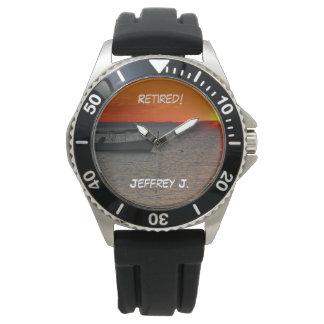 Zurückgezogen! Armbanduhr-Fischerboot, schwarzer Uhr
